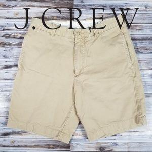 J.Crew Mens 32W Regular Fit Khaki Shorts